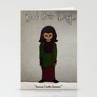 planet of the apes Stationery Cards featuring bad hair day no:1 / Planet of the Apes by niles yosira