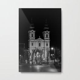 Black & White church Subotica // Serbia Metal Print