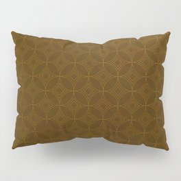 Chocolate Brown Moroccan Geometric Pattern Pillow Sham