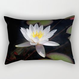 The white nymphaea Rectangular Pillow