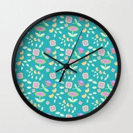 Sweet Scandi Floral Wall Clock