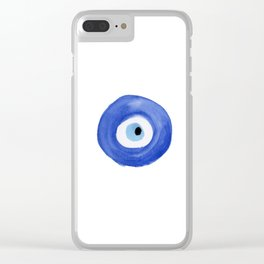Nazar - Turkish Evil Eye Print Clear iPhone Case