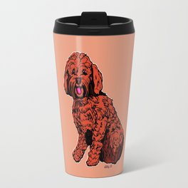 Labradoodle Illustration Travel Mug