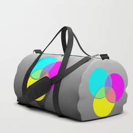 CMY Color Palette Crossover Duffle Bag