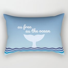 The Free Whale Rectangular Pillow