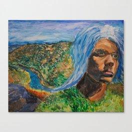 Waterfall Self-Portrait Canvas Print