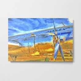 Aviation Pop Art Metal Print