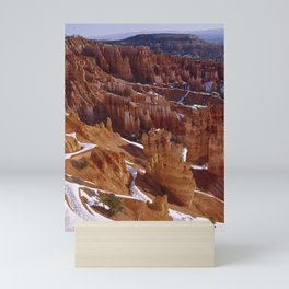 Bryce Canyon National Park Utah after the snow is starting to melt Mini Art Print