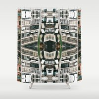 barcelona Shower Curtains featuring BARCELONA by Carlos Violante