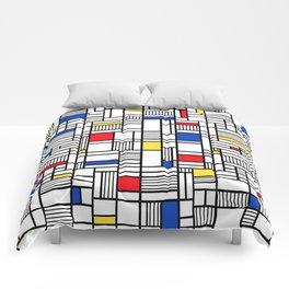 Map Lines Mond Comforters