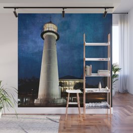 Lighthouse Blues Wall Mural