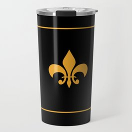 Gold And Black Travel Mug