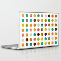 polka dot Laptop & iPad Skins featuring Autumnal polka dot by cafelab