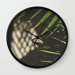 light, shadows, and leaves Wall Clock