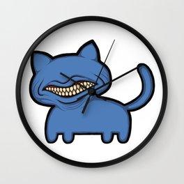 toothcat (blu) Wall Clock