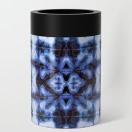 Blue Oxford Shibori Can Cooler
