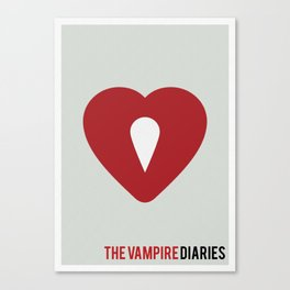 The Vampire Diaries - Minimalist Canvas Print