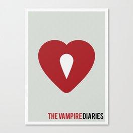 The Vampire Diaries - Minimalist Canvas Print
