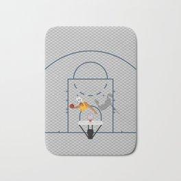 Dunkers   Basketball Court  Bath Mat