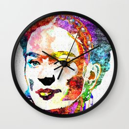 Frida Kahlo Grunge Wall Clock