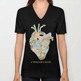 A Traveler's Heart Unisex V-Neck