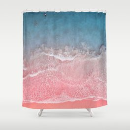 Bahamas pink blue Shower Curtain