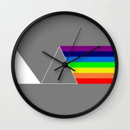 Rainbow made of light Wall Clock