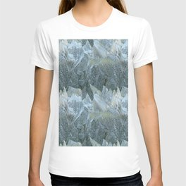 Iced Leaves over the Hills T-shirt