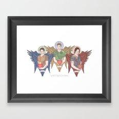 Supernatural Guardian Angels Framed Art Print