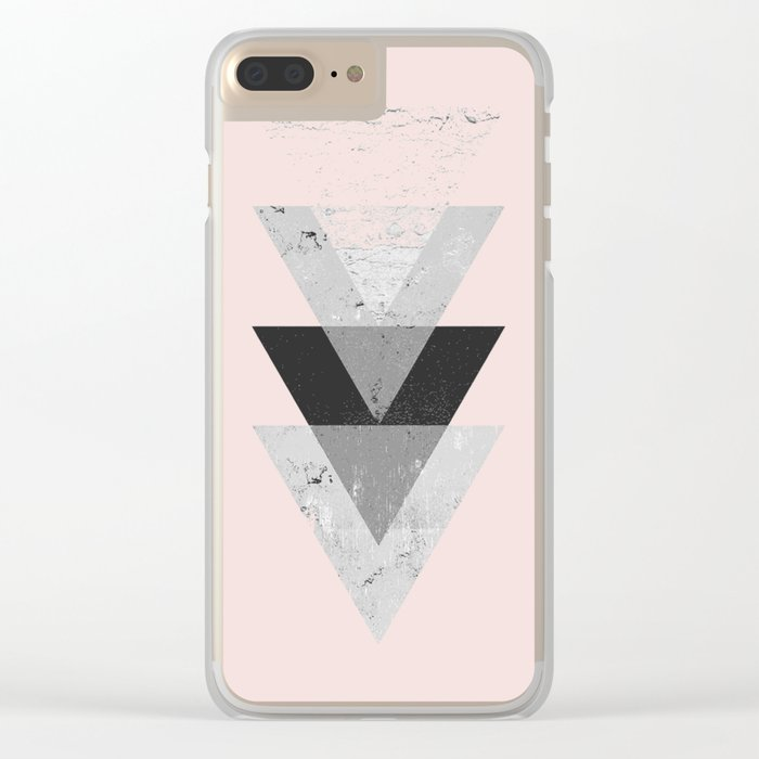 Inverted triangle geometric pattern Clear iPhone Case