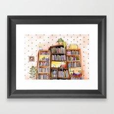 We love books Framed Art Print