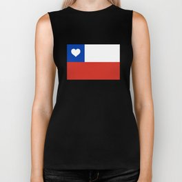 Texas State Flag with Heart Biker Tank