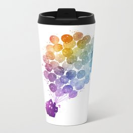 Up! - Watercolor Metal Travel Mug