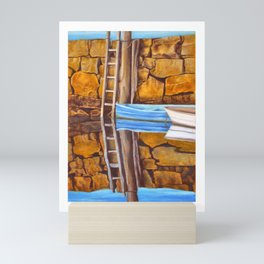 Row Boats Waiting Mini Art Print