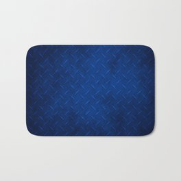 Rustic Blue Metal Diamond Plate Bath Mat