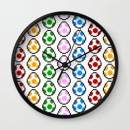 Yoshi Rainbow Eggs Wall Clock