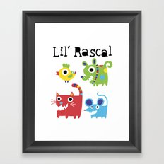 Lil' Rascal - Critters Framed Art Print