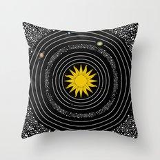 Solar System Sun & Planets Throw Pillow