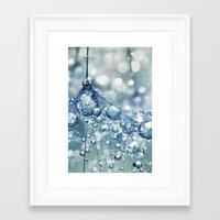 mandie manzano Framed Art Prints featuring Sparkling Dandy in Blue by Sharon Johnstone