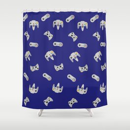 Gaming Pattern Shower Curtain