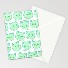 Exotic shorthair cat pattern Stationery Cards