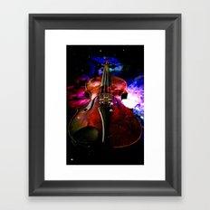 violin nebula Framed Art Print
