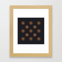 black coffee || moon drops Framed Art Print