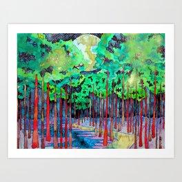 A WALK THROUGH THE FOREST Art Print