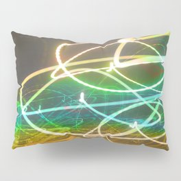 Rainbow Light Graffiti Pillow Sham