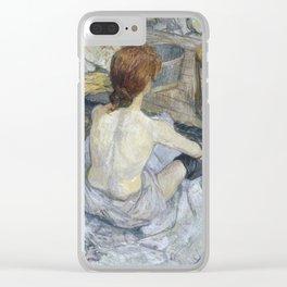 """Henri de Toulouse-Lautrec """"Rousse (La Toilette)"""" Clear iPhone Case"""