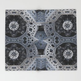 Fractal Art - spaceship drive Throw Blanket