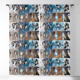 Blues Blackout Curtain