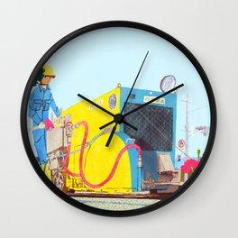 The asphalt cutter Wall Clock