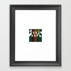 #209 Wildfire – Geometry Daily Framed Art Print